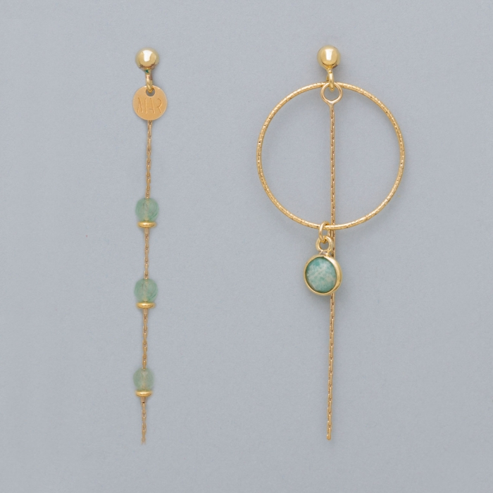 copy of Circle Chain Gold earrings